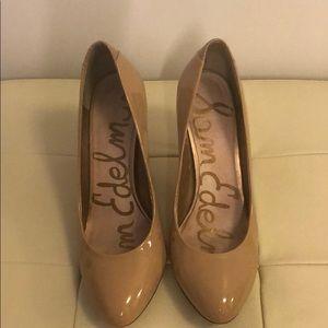 Camdyn- Classic Nude Leather Heels